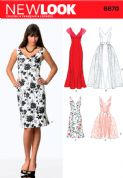 6670 New Look Pattern: Misses' Special Occasion Dresses with Detachable Overskirt